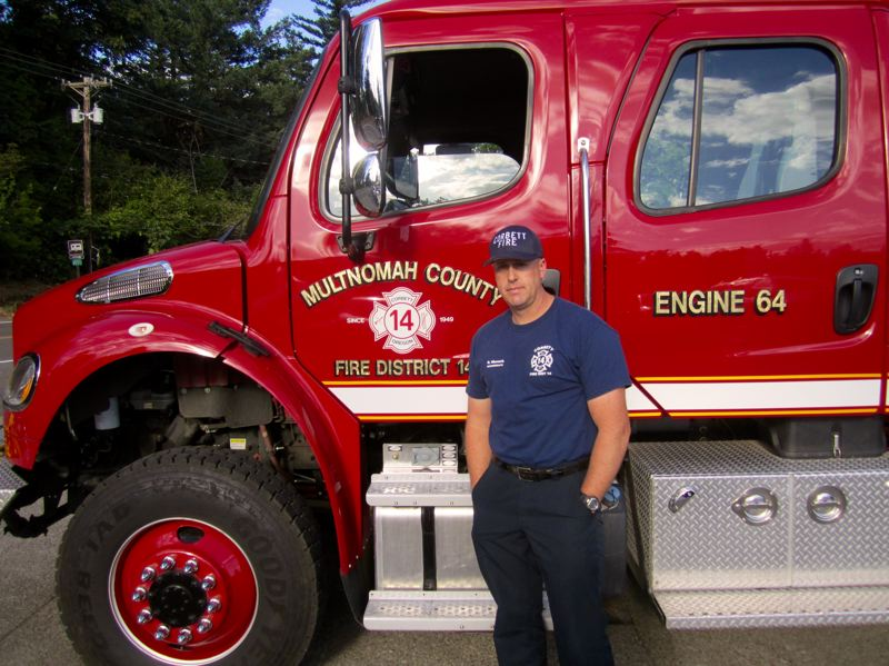 CONTRIBUTED PHOTO: CORBETT FIRE DISTRICT  - Rick Wunsch was named Oregons Volunteer Firefighter of the Year.