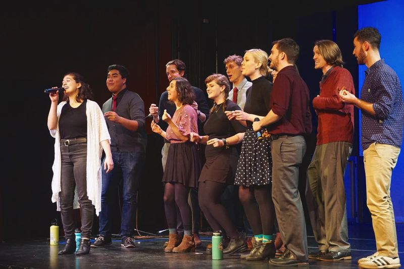 COURTESY PHOTO - The Portland-based group B-Side Book Club will be competing in a national a cappella competition this week.