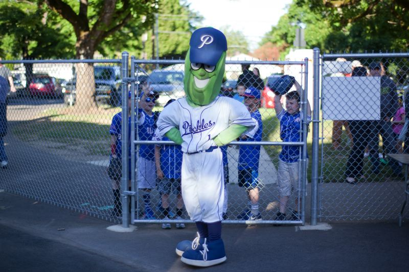 CONTRIBUTED PHOTO - Dillon the Pickle will be on hand at the Sunday, July 15, childrens health fair at Walker Stadium in Lents.