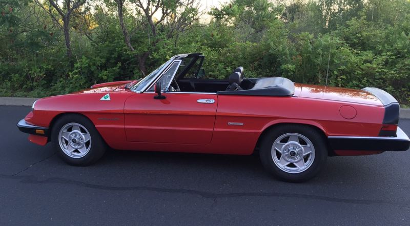 CONTRIBUTED - This 1989 Spider Veloce will be displayed by Randy Bauder, of Vancouver, Wash., the car's original owner.