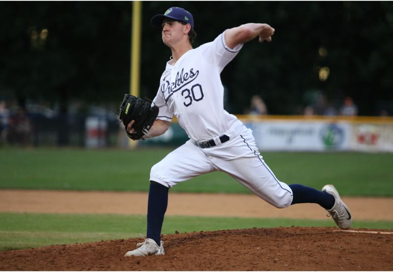 PAMPLIN MEDIA GROUP: JIM BESEDA - Milwaukie's Brad McVay is 4-0 with a 0.39 ERA in six appearances for the West Coast League's Portland Pickles.