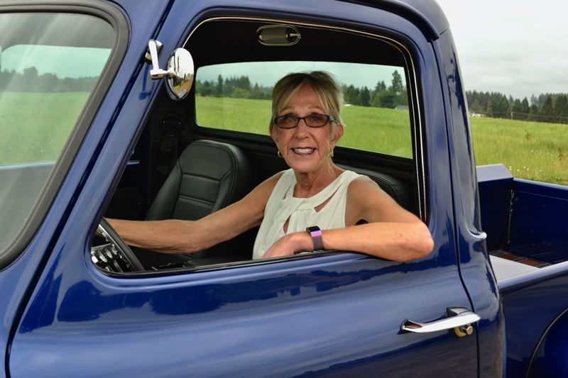 POST PHOTO: BRITTANY ALLEN - Queen Linda Parker plans to ditch the traditional Corvette for the Sandy Mountain Festival parade and ride in down-home royal style in a 1953 Ford pickup.