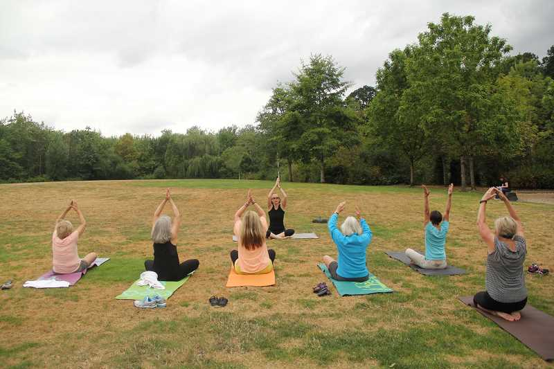SUBMITTED PHOTO  - Lake Oswego Parks and Recreation offers a variety of classes, and many are held outdoors during the summertime. Sign up for Yoga Gentle Flow in the Park, starting July 16.