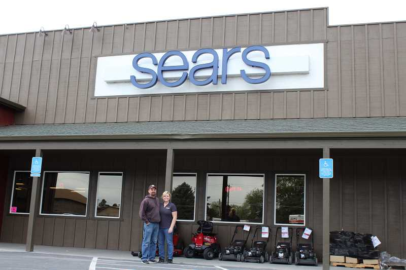 HOLLY SCHOLZ/CENTRAL OREGONIAN - Jeremy and Heidi Wood, who owned the recently remodeled Sears store in Prineville, as well as the stores in Madras and Bend, are in a legal dispute with Sears Hometown Stores.