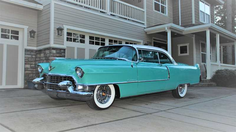 SUBMITTED PHOTO - Lake Oswego resident John Adams will display his 1955 Cadillac Couple De Ville at the Concours d'Elegance on Sunday.