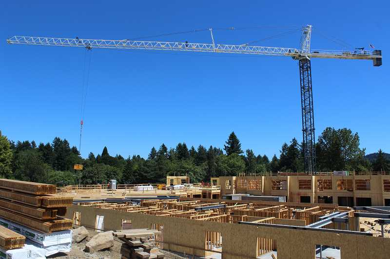 REVIEW PHOTO: ANTHONY MACUK - The Springs at Lake Oswego broke ground last year and is expected to open in the fall of 2019. It will include 216 apartments, with a mix of independent and assisted living options.