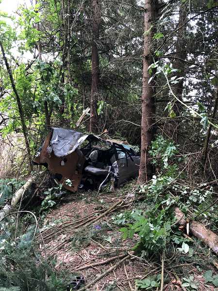 CCSO - A Chevy Malibu was split into two in an early morning single-vehicle car crash on Tuesday, July 10.