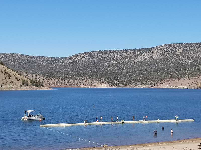 PHOTO SUBMITTED BY MIKE SIMONSEN  - None of the state park docks at Prineville Reservoir have been closed, although it is a possibility later this summer as water levels continue to drop.