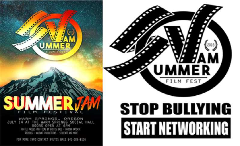 SUBMITTED ILLUSTRATIONS - The Summer Jam Film Festival is set for Saturday, July 14, at the Warm Springs Community Center. The free event begins at 6 p.m., with films starting at 7 p.m.