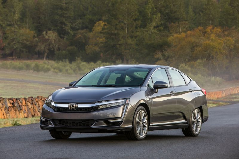 HONDA NORTH AMERICA - The 2018 Honda Clarity PHVE looks futuristic without being too far out there, a good description of its easy-to-use plug-in hybrid technology, too.