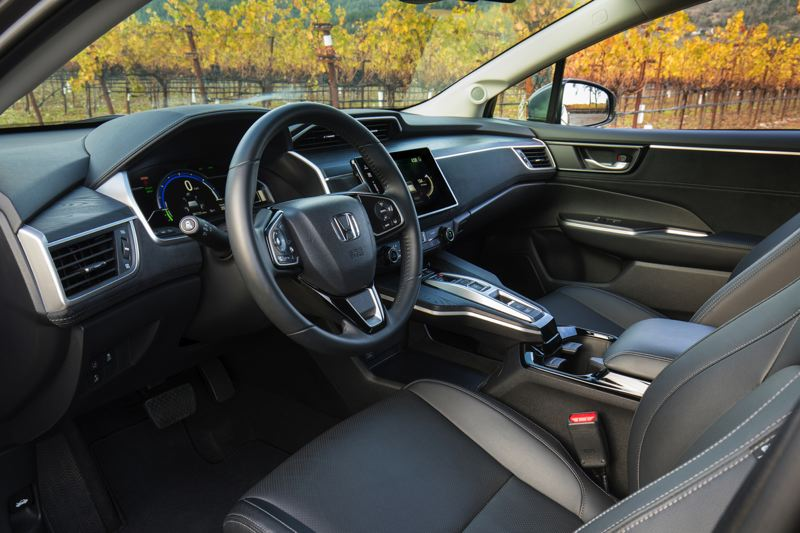 HONDA NORTH AMERICA - The interior of the 2018 Honda Clarity PHEV is roomy, comfortable and, in the Touring model, luxurious.