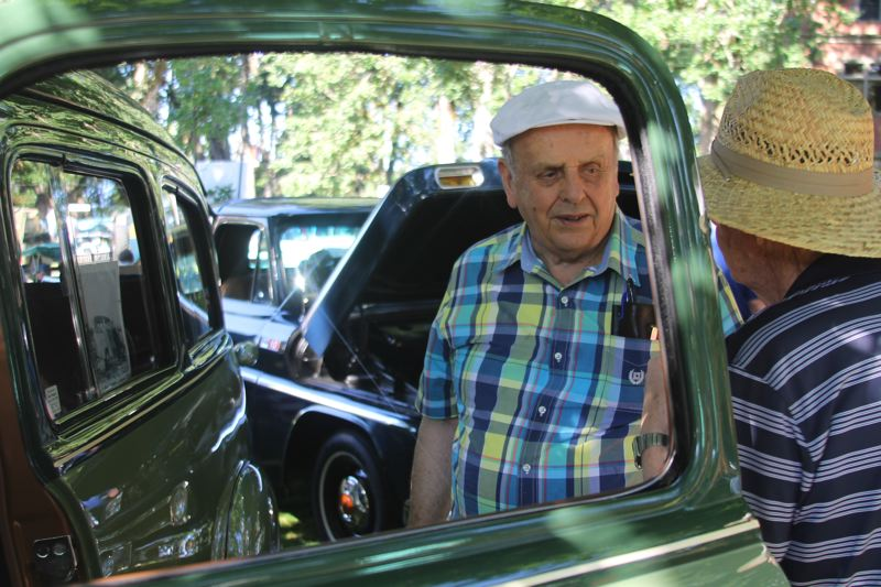 PAMPLIN MEDIA PHOTO: JOHN SCHRAG - Ray Asbahr of Gresham brought his 1949 Chevrolet 3100 Suburban truck to the 2018 Forest Grove Concours d'Elegance. Asbahr's vehicle was one of a number of Chevrolet trucks displayed at Sunday's event.