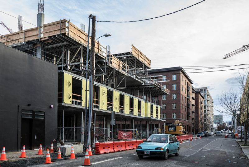 PORTLAND TRIBUNE FILE PHOTO - This affordable housing project supported by the City of Porttland at Northwest 14th and Raliegh in the Pearl District is typical of those that Joe Keizur thinks are too expense. It will provide 93 units for nearly $36 million.