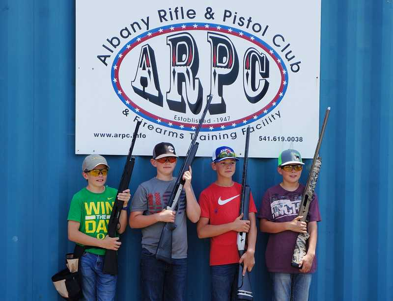 SUBMITTED PHOTO - Logan Jutting, Mason Lee, James Lange and Chase Comingore compete in the juniors division.