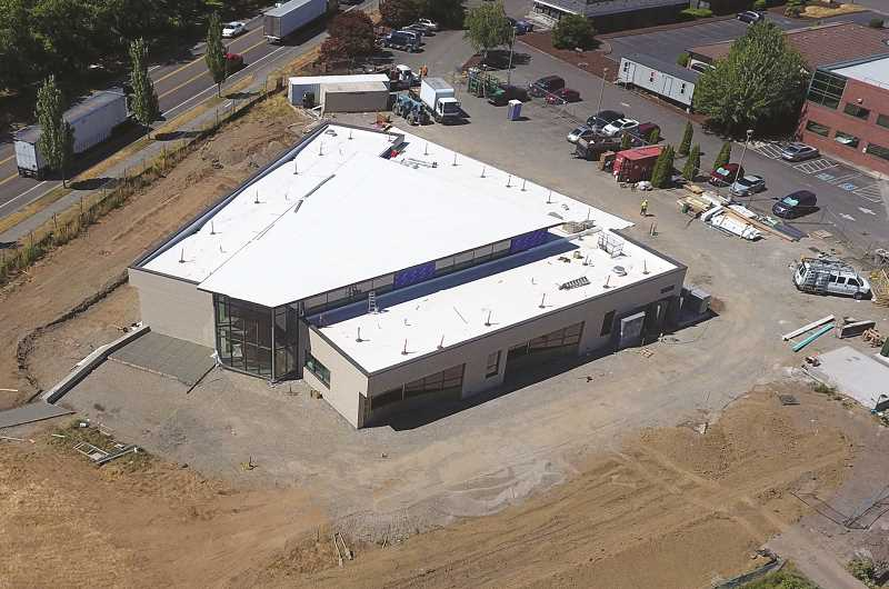 COURTESY PHOTO: WOODBURN SCHOOL DISTRICT - The Success Alternative High School building is close to completion.