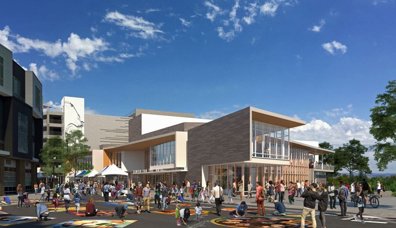 ILLUSTRATION COURTESY OF CITY OF BEAVERTON - An artist's rendition of the exterior and campus of the Beaverton Arts Center.