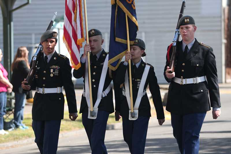 INDEPENDENT FILE PHOTO - The Junior ROTC marched in the parade last year.