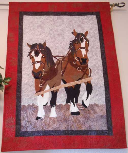 CONTRIBUTED PHOTO: JUDITH BAY - Quilter Judith Bay counts this design featuring horses as one of her favorite pieces.