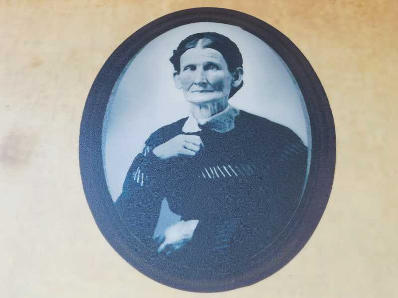 CONTRIBUTED PHOTO: PHILIP FOSTER FARM - Mary Charlotte Foster is pictured in the only known photograph of her. Mary Charlotte, wife of Philip Foster, welcomed many settlers to Oregon at the Eagle Creek farm she and her husband ran.