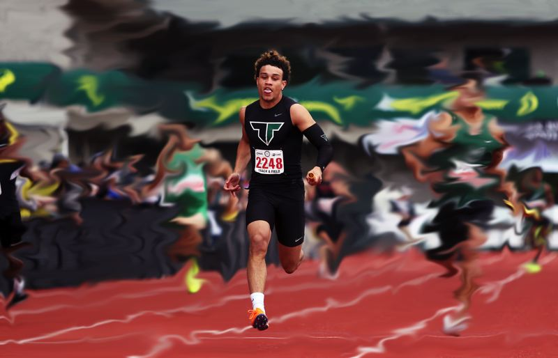 TIMES PHOTO: DAN BROOD - Braden Lenzy was a blur on the football field and the track during his four years at Tigard High School.