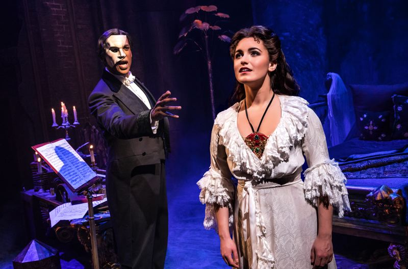 COURTESY: MATTHEW MURPHY - Eva Tavares (right) plays Christine Daae, the object of The Phantom's affection in 'Phantom of the Opera' (with The Phantom, Quentin Oliver Lee in this photo). Tavares says the famous play 'makes an impact that's kind of hard to grasp.'