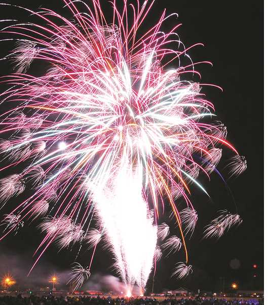 The festival's fireworks show at Renne Field is a favorite among the thousands who attend every year.