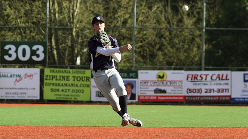 REVIEW FILE PHOTO - Lake Oswego's Jake Dukart was named to the Class 6A all-state first team following a senior season that saw the shortstop lead the Lakers to a share of the Three Rivers League title.