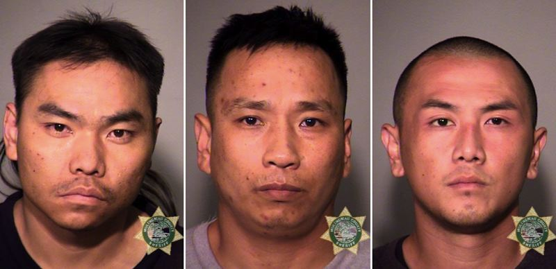 POLICE PHOTOS - FROM LEFT: Abraham Her, Nhat Ha and Cheng Xiong