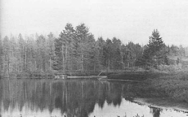 PHOTO COURTESY OF BOWMAN MUSEUM  - Walton Lake, shown in 1955, has become a popular camping destination.