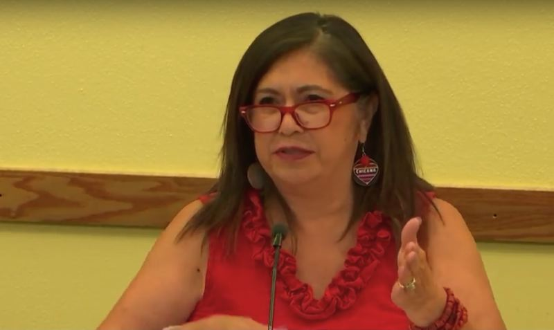SCREENSHOT: PORTLAND PUBLIC SCHOOLS/YOUTUBE - School board Vice Chair Julie Esparza Brown explains the Portland Public Schools' new sex and health education plan at the July 17 board meeting.