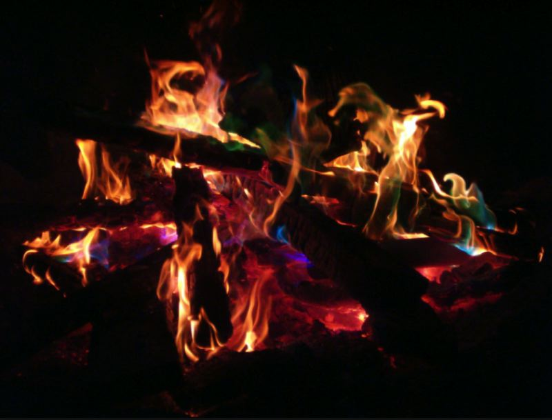 WIKIPEDIA PHOTO - An image of a campfire, which are currently banned in state parks, is shown here.