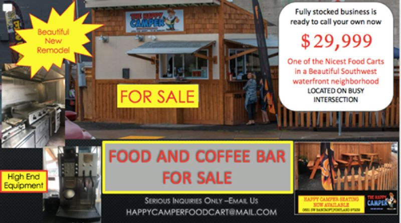 KOIN 6 NEWS - The online ad for selling the Happy Camper food cart.