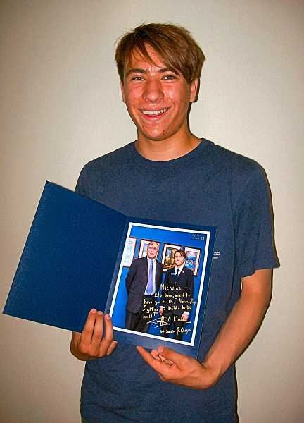 RITA A. LEONARD - Cleveland High senior Nicolas Avendano spent this years spring term as a U.S. Senate Page, sponsored by Senator Jeff Merkley.