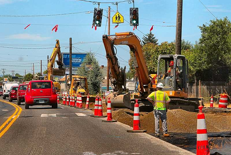 DAVID F. ASHTON - Drivers in the Lents Town Center area of outer East Portland are already experiencing construction detours as the Foster Transportation and Streetscape Project gets underway.