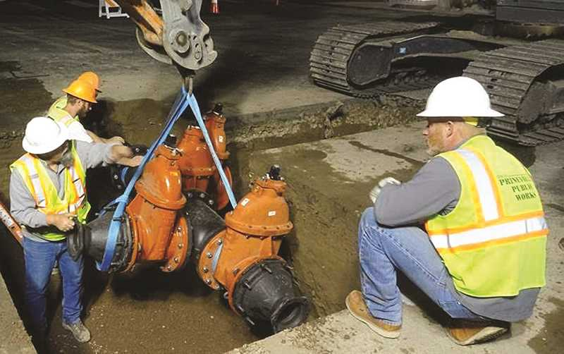 PHOTO COURTESY OF CITY OF PRINEVILLE - City staff have been replacing leaking supply water lines.