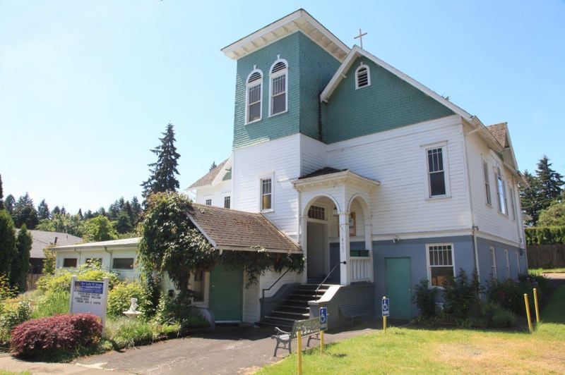 PHOTO COURTESY: OAK LODGE HISTORY DECTECTIVES - Built between 1907 and 1909, Our Lady of Grace Pro Cathedral is one of the oldest churches in Clackamas County.