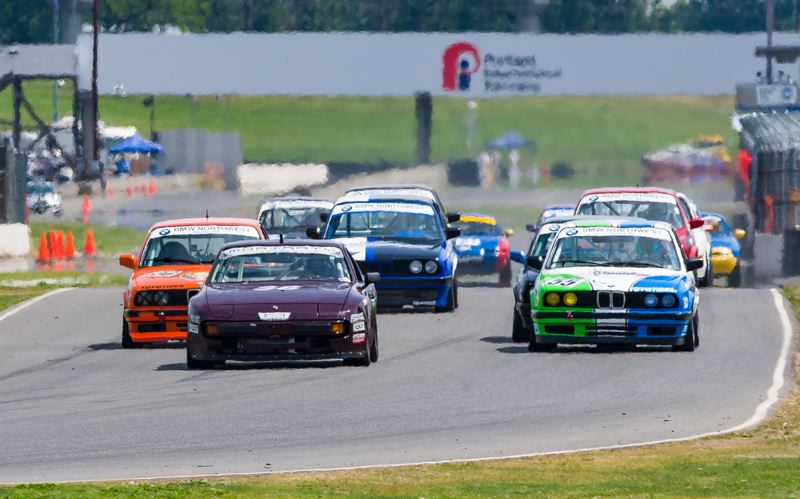 COURTESY DOUG BERGER - Cascade Sports Car Club racing at Portland International Raceway.