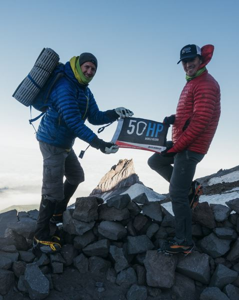 COURTESY: COLIN O'BRADY - Colin O'Brady (right) says of his 50-State High Points venture: 'It was an ambitious goal, wanting to knock out all 50 peaks in just 21 days.'