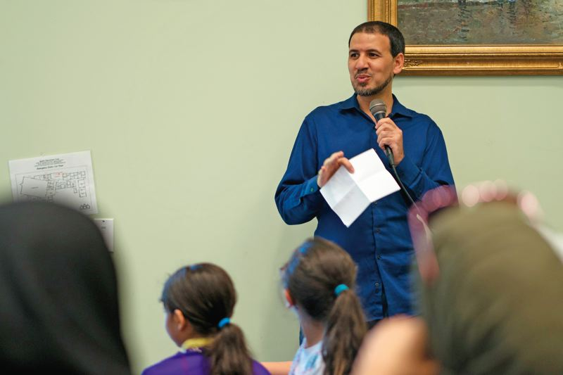 PORTLAND TRIBUNE: KIT MACAVOY - Dr Omar Reda, a trauma expert, holds monthly seminars titled Safe Spaces to have an open dialogue about sensitive taboo topics in the Arab Muslim community.(Right) Syrian refugee, Samir is unable to reach out for help owing to the stigma attached to mental illnesses in the Arab Muslim community.