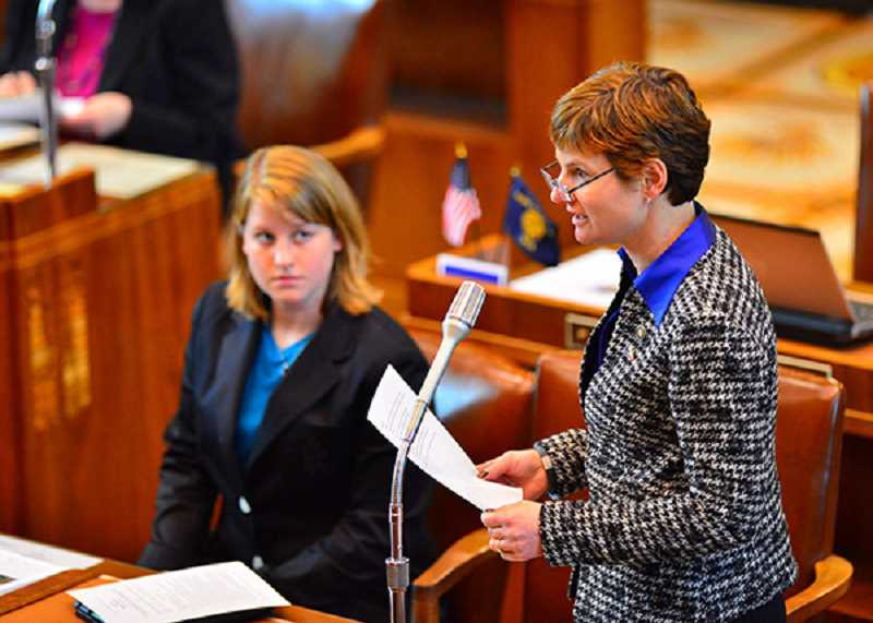 COURTESY OF OREGON STATE UNVERSITY - Oregon state Sen. Elizabeth Steiner Hayward (right), a medical doctor, was a key backer of the concussion prevention law named after Jenna Sneva.