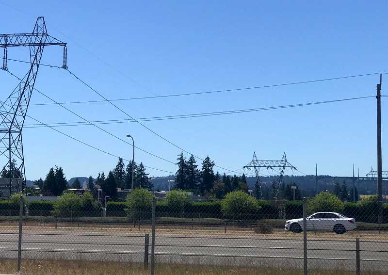 SPOKESMAN PHOTO: LESLIE PUGMIRE HOLE - While the power poles are larger, the cars updated and the buildings that line the freeway dramatically increased, the view of I-5 in Wilsonville remains much the same.
