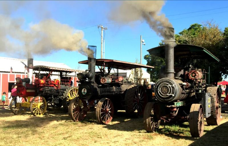 COURTESY ANTIQUE POWERLAND - Examples of the steam-powered vehicles you can see during the two Antique Powerland Steam-up weekends.
