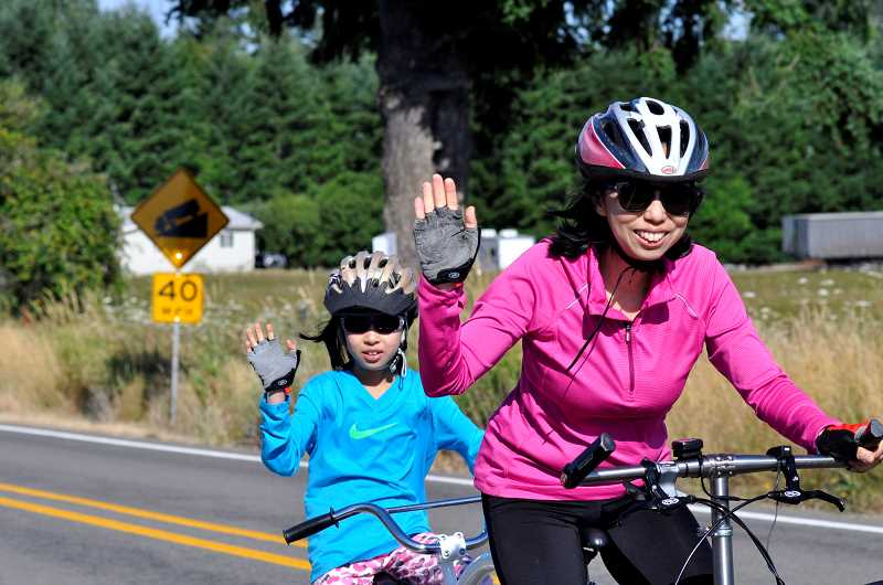 The event that started at Memorial Park included 50-killometer, 60-killometer and 80-killometer rides.