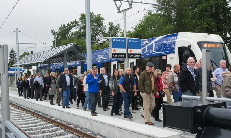 PAMPLIN MEDIA GROUP FILE PHOTO - TriMet's Orange Line was the latest addition to the Portland metro area's mass transit system. The Southwest MAX line would continue that necessary growth.
