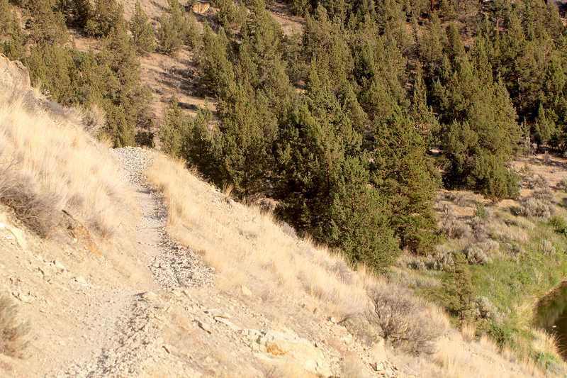 STEELE HAUGEN - Summit Trail takes a very steep narrow path to the top of Smith Rock.