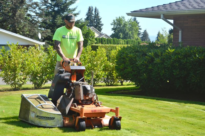 POST PHOTO: BRITTANY ALLEN - Mark Griffith forged his own path to start Platinum Landscape Maintenance so he could be his own boss.