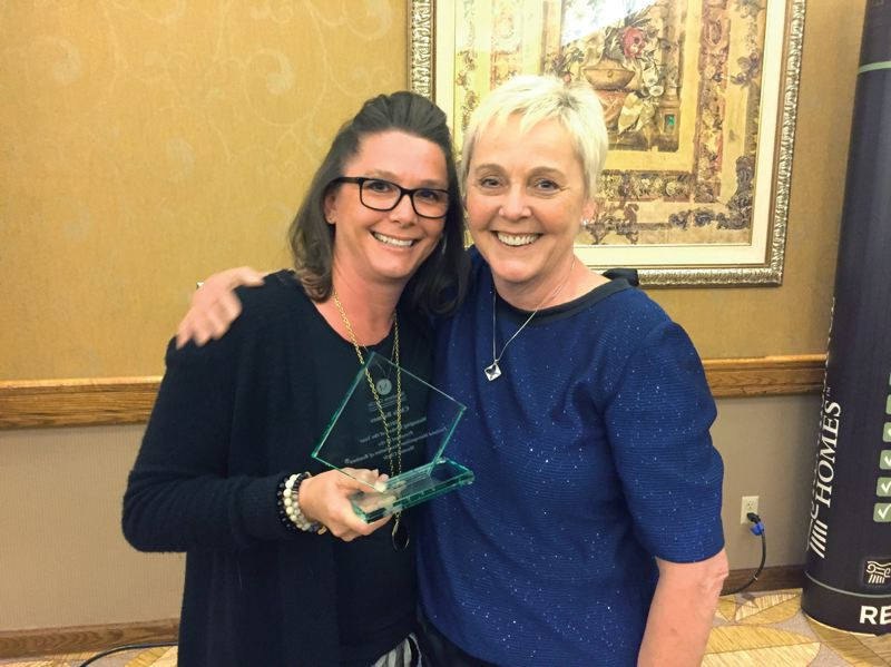 COURTESY: PMAR - Lisa Balmes (left) with her mother, Chris Balmes, the 2018 PMAR Managing Broker of the Year.