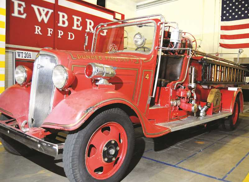 GARY ALLEN - Engine Four was originally commissioned in Newberg before spending 50 years in Dundee. It will be restored by TVF&R at a shop in Wilsonville.