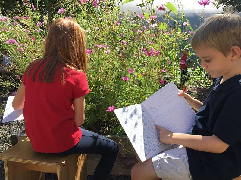 COURTESY PHOTO - School lessons are tied to the students' time in the garden.