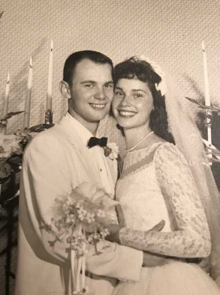 COURTESY PHOTO - Patricia (Baker) and Paul Pellatz were married July 26, 1958.